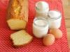 gâteau au yaourt et ingrédients