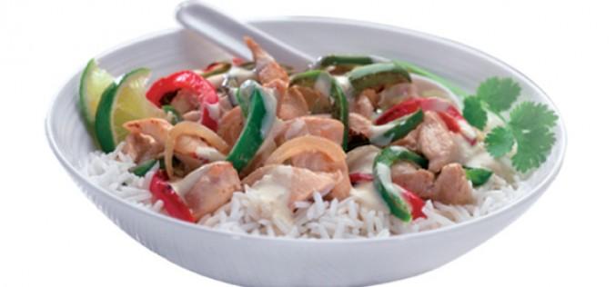 Recette Philadelphia : poulet et curry vert thaï