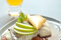 Recette : Dos de cabillaud rôti au chutney de pommes et son croustillant de Pont- l'Evêque