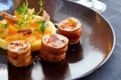 Recette : Mignon de lapin farci au cidre et serpolet, et polenta aux fruits secs