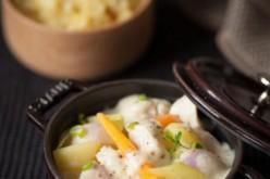 Recette : Blanquette de volaille, légumes d'automne et riz pilaf