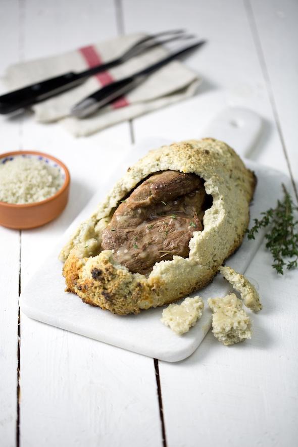 Gigot d'agneau en croute de sel