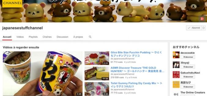Youtube : du Japon dans l'assiette