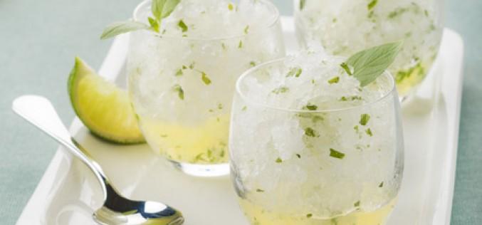 Recette : granité au citron/citron vert et basilic