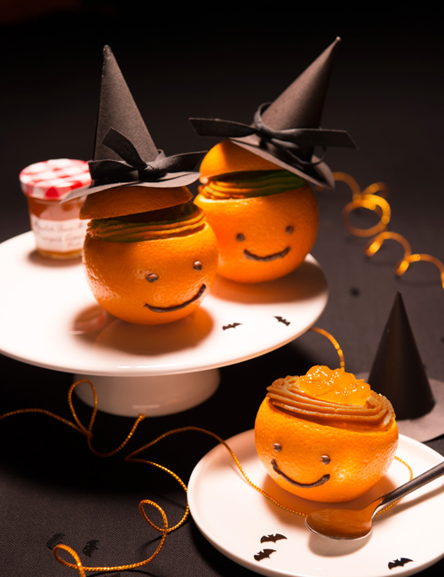 Recette halloween oranges garnies la cr me de pain d 39 pices et la marmelade d 39 oranges - Recette dessert halloween ...