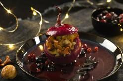 Recettes fêtes : oignons confits aux girolles et aux châtaignes