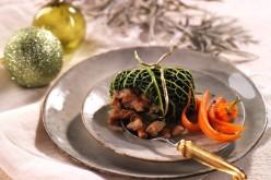 Recette fêtes : choux farcis aux girolles et châtaignes