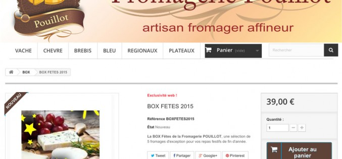 Une box «fromages de Noël»
