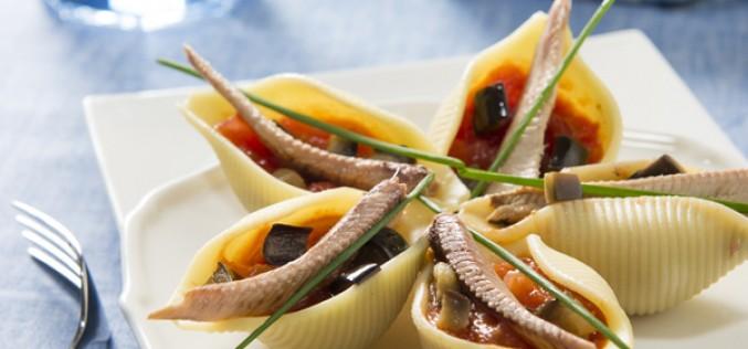 Recette : conchiglioni farcies aux Sardines Connétable