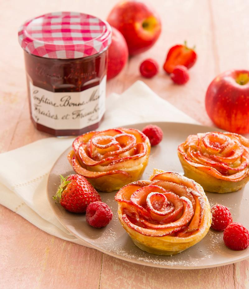 confiture de fraise a la rose
