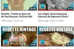 INA : la chaîne des «Recettes vintage»