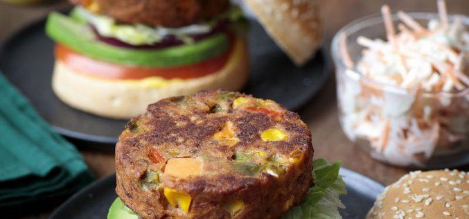 Recette : Burger avec une galette de légumes