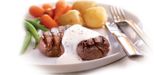 Recette Philadelphia : steak en sauce