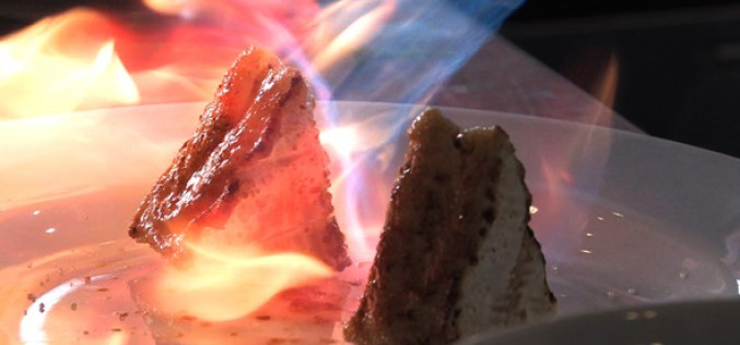 Camembert on fire