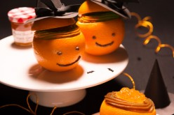 Recette Halloween : Oranges garnies à la crème de pain d'épices et à la Marmelade d'Oranges Amères