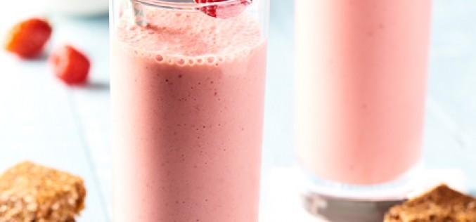 Recette milkshake aux fruits d'été, et barre céréales