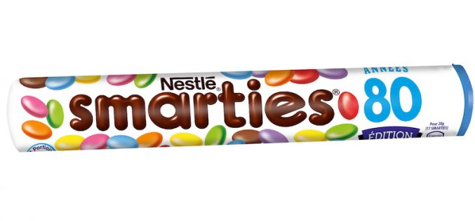 Smarties, tube format années 80