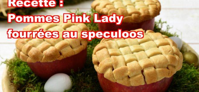 Recette : pommes Pink Lady fourrées speculoos (vidéo)